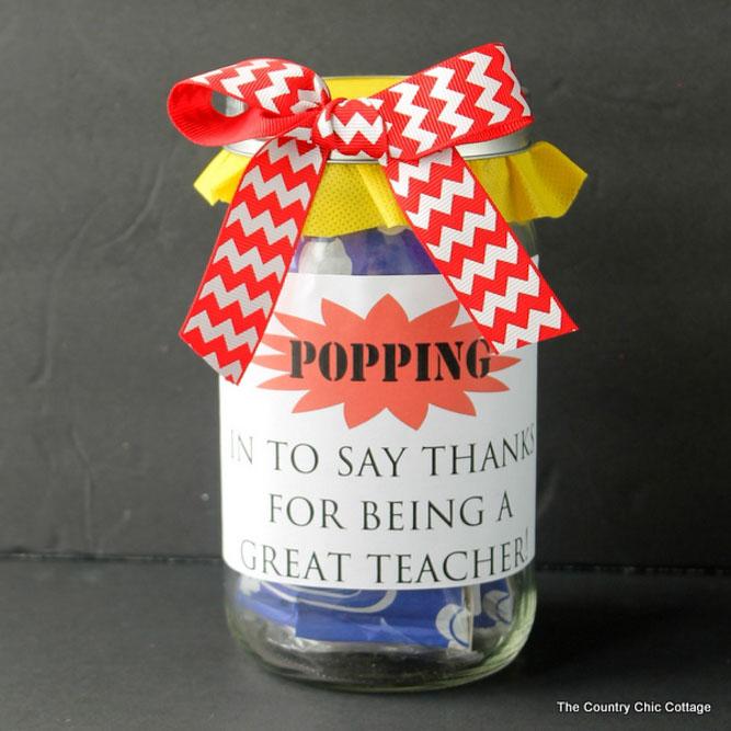 Easy gift idea for male teacher