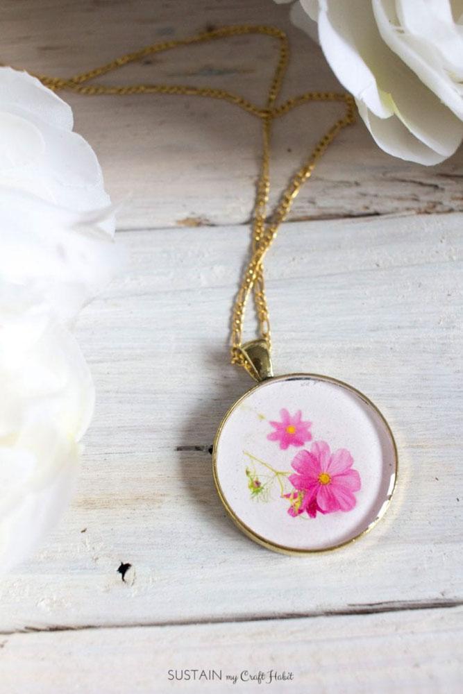 homemade necklace for teacher gift