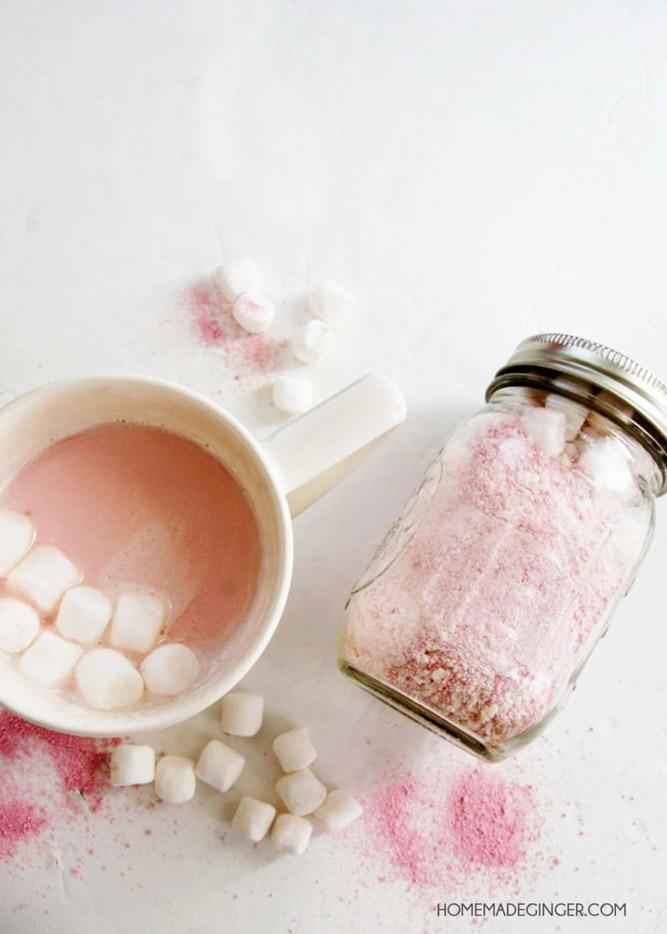 Pink Hot Chocolate Teachers Gift Idea