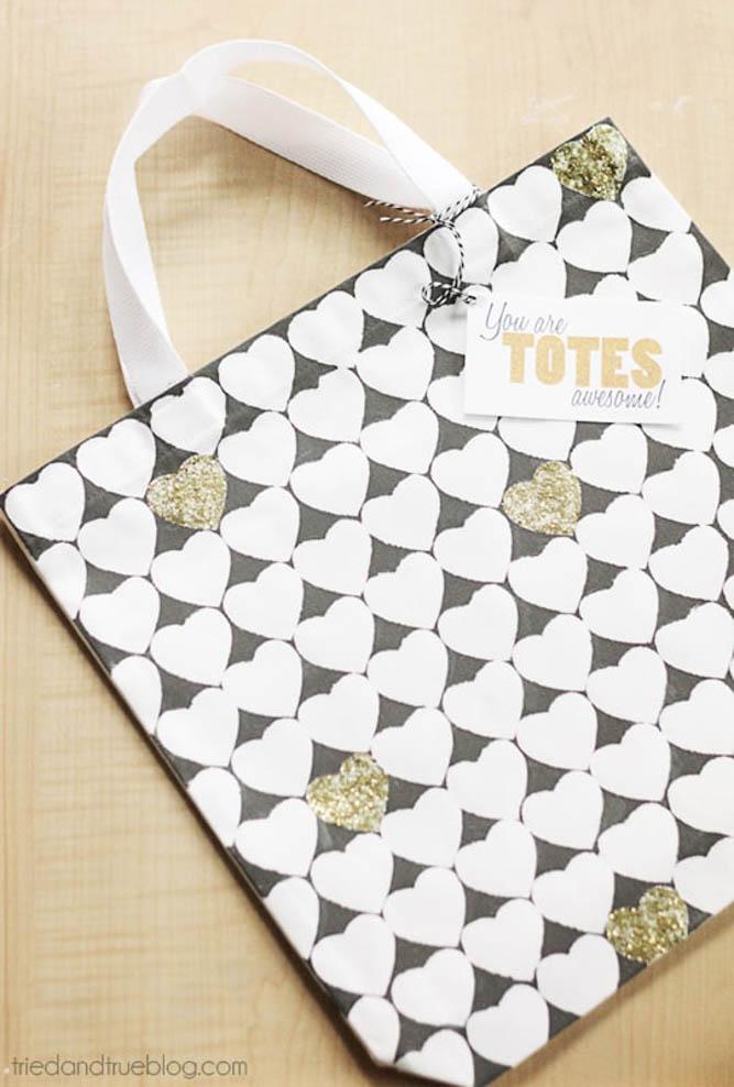 homemade tote bag for teacher