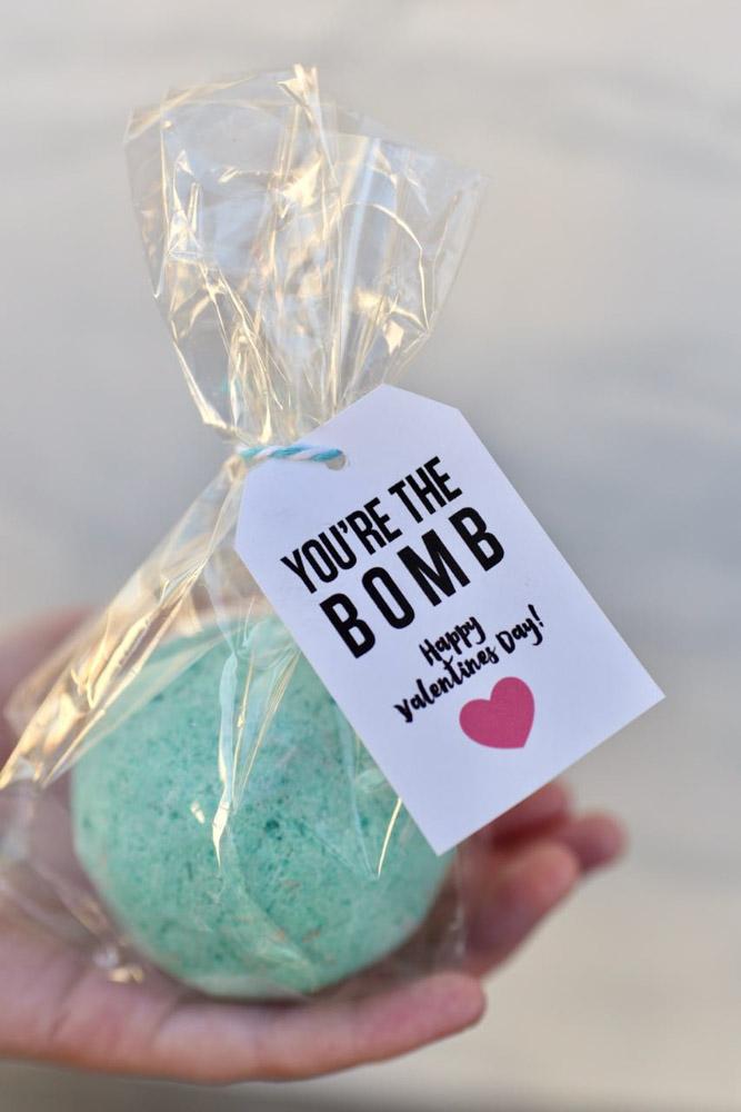 Homemade bath bomb teachers gift