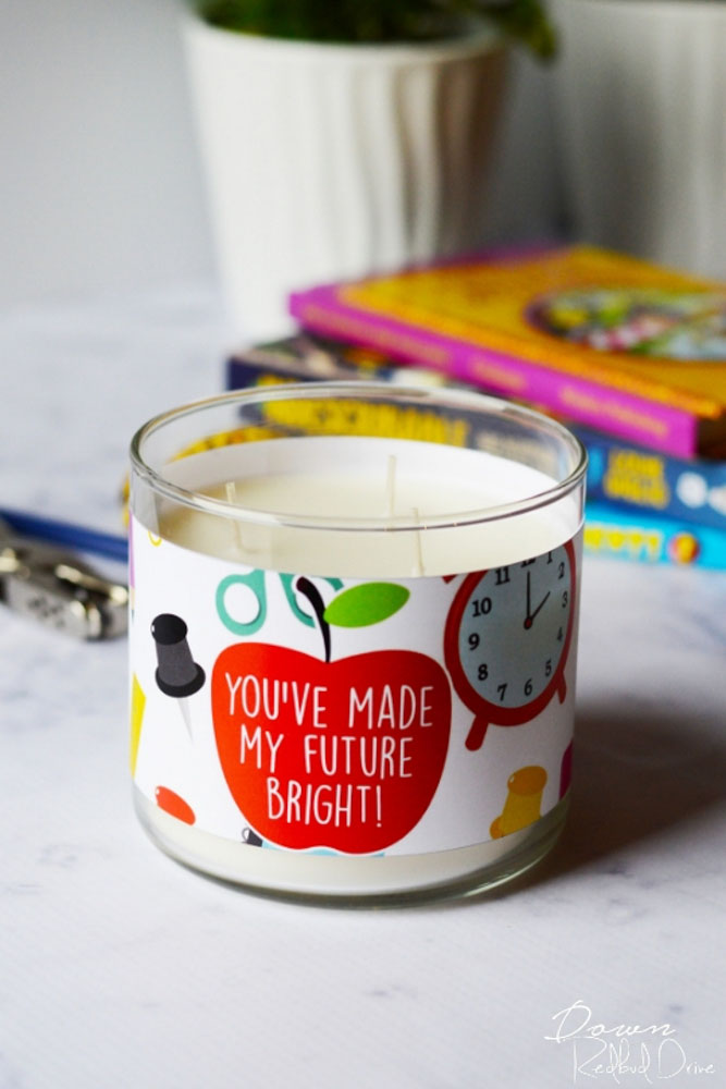 candle teachers gift