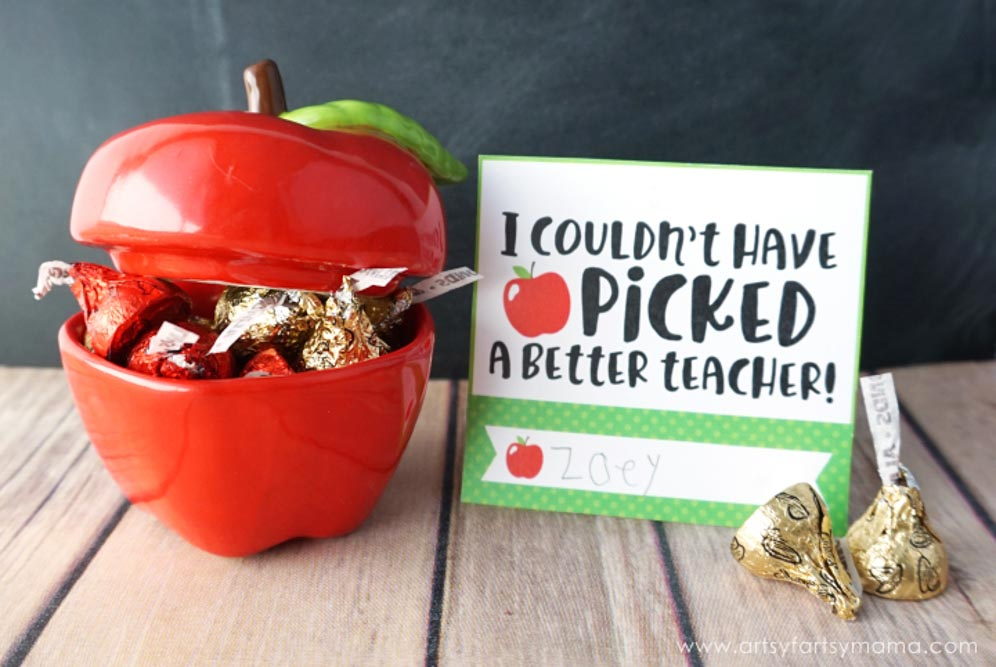 apple gift idea for teacher