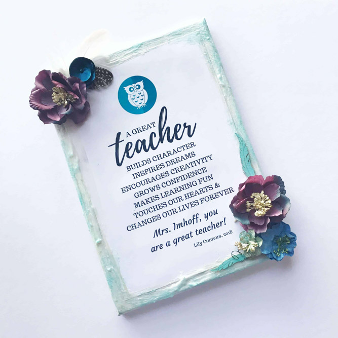 teacher gift wall art idea