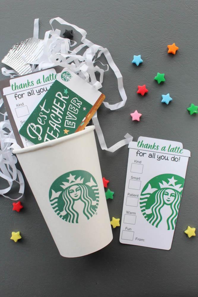 starbucks gift for teacher
