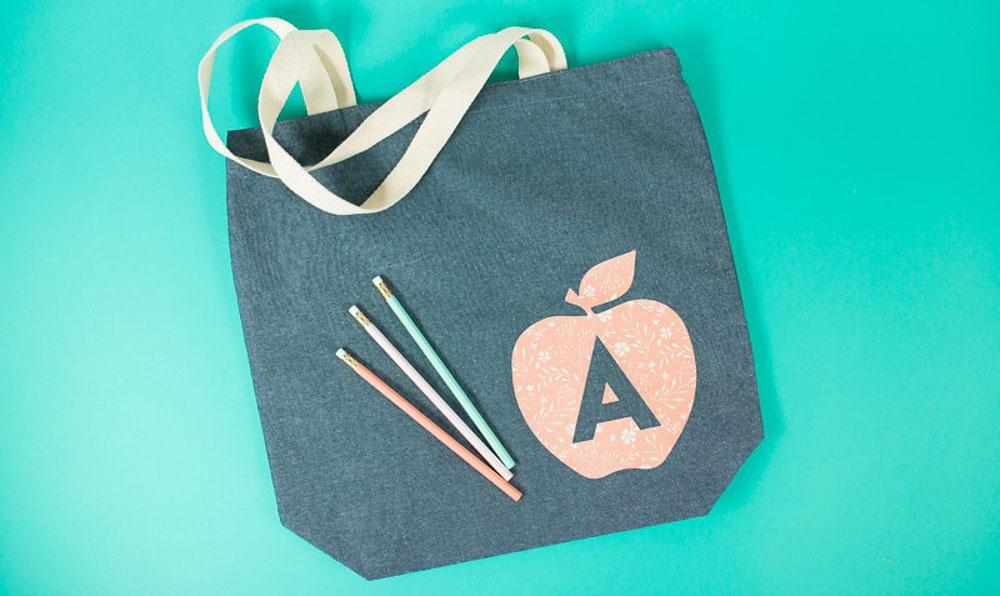 DIY teachers tote bag