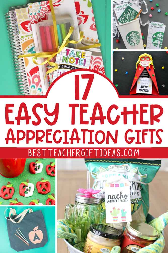 Easy teacher appreciation ideas