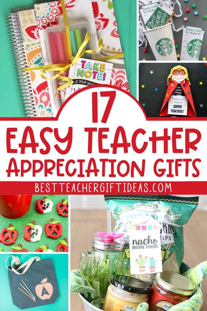 Easy teacher appreciation ideas
