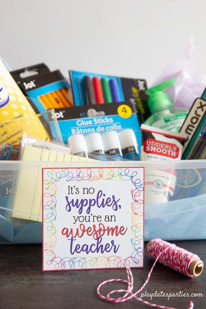 Stationary gift hamper idea for teacher