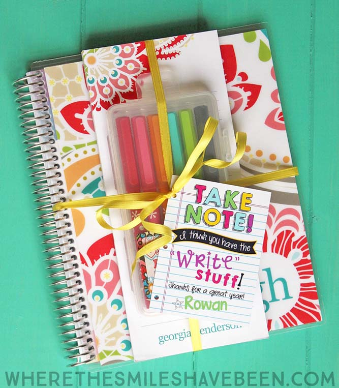 Stationery teacher appreciation gift