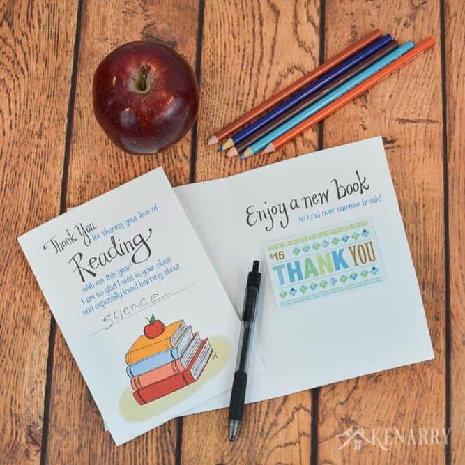 Teachers Day Gift Card Printable