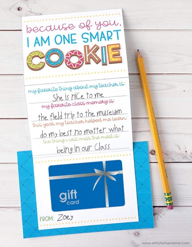 Gift Card Holder For Teachers Day