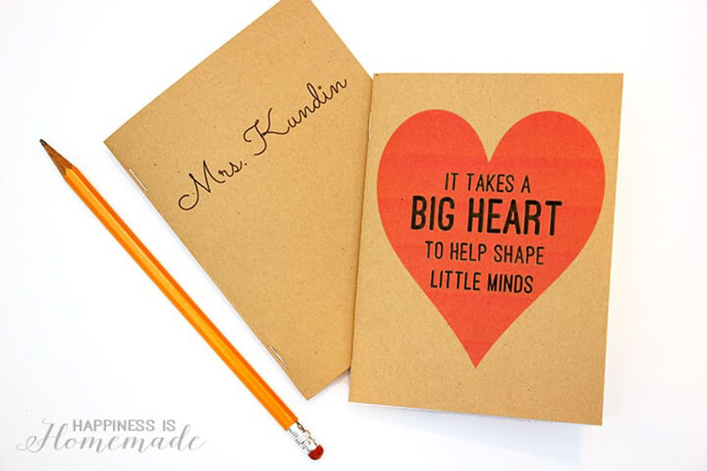 Personalized Teachers Notebook gift