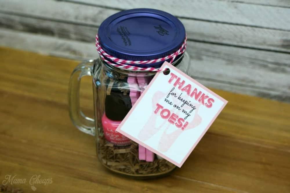 Dance Teacher Gift Jar