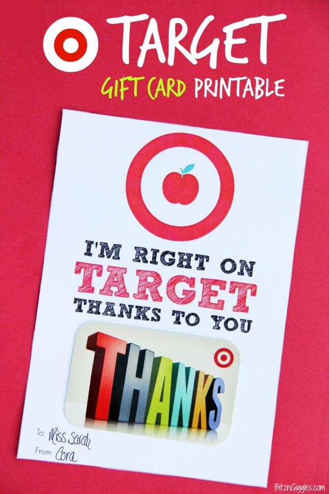 Teachers Day Gift Card Target