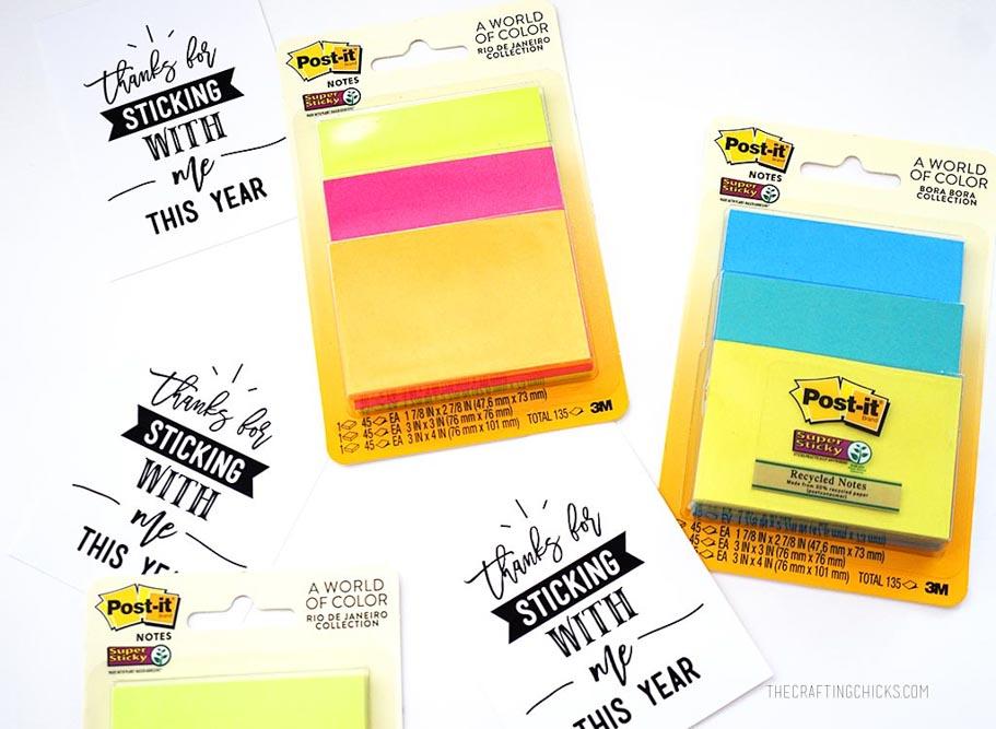 Sticky Note Teachers Gift
