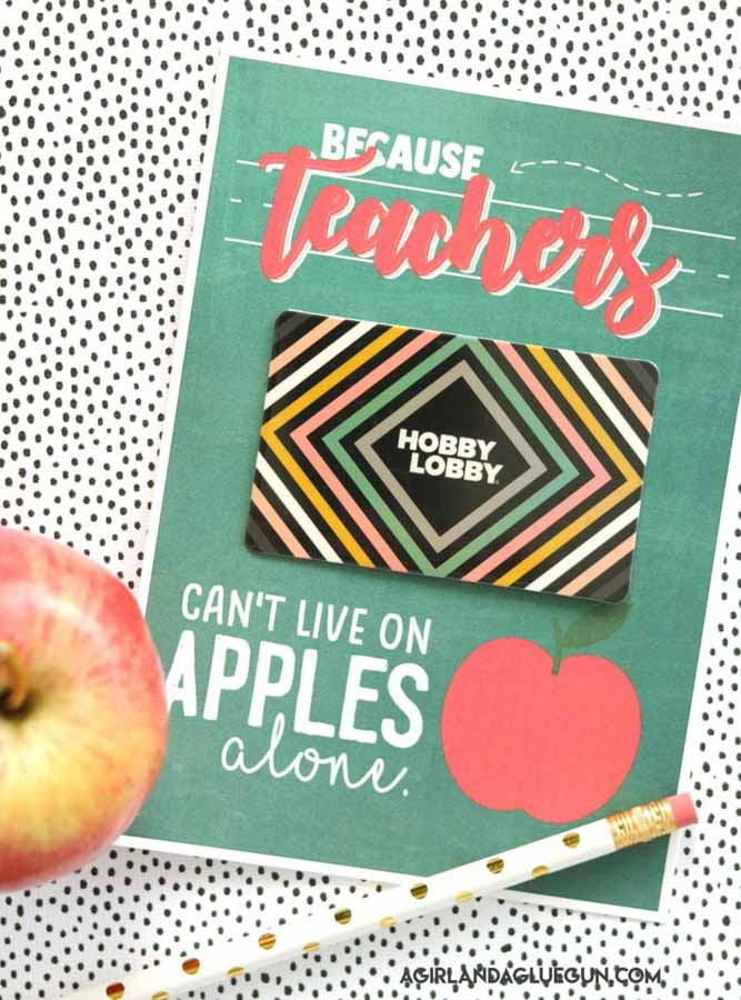 Funny apple teachers day gift idea