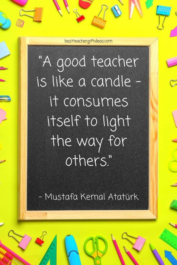Quote about a good teacher