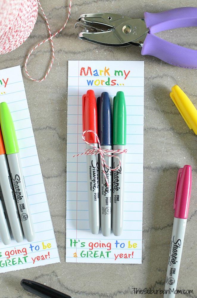 Sharpie Teacher Gift