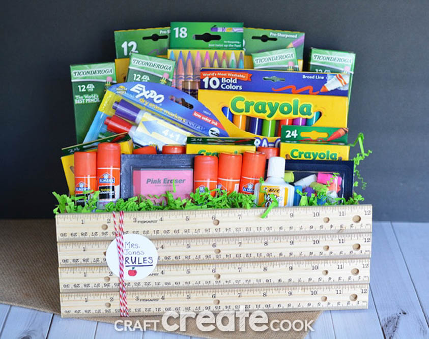 School Supplies Gift Basket