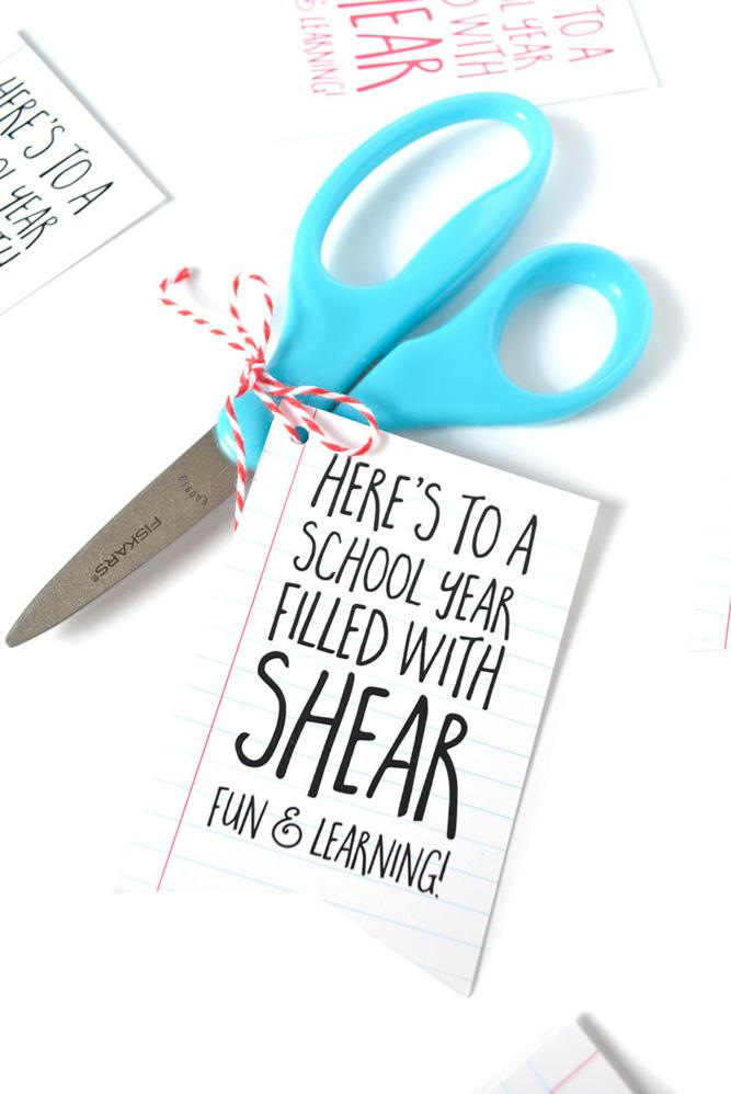 Scissor Teacher Gift Idea