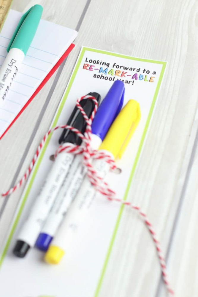 Dry Erase Marker Teacher Gift