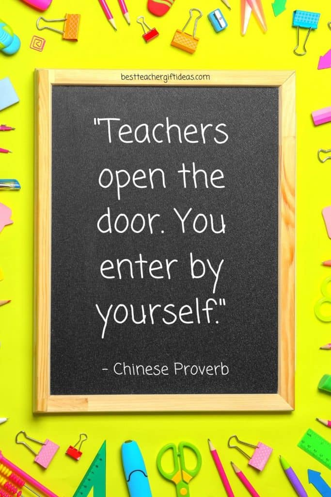Teacher Chinese Proverb Quote