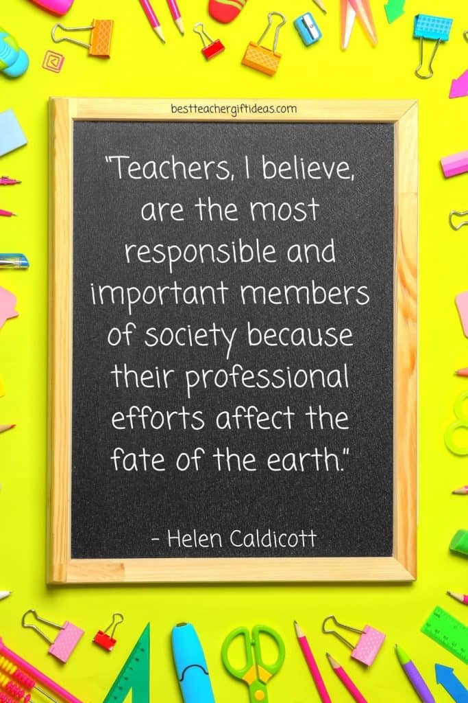 Quote about teachers being important