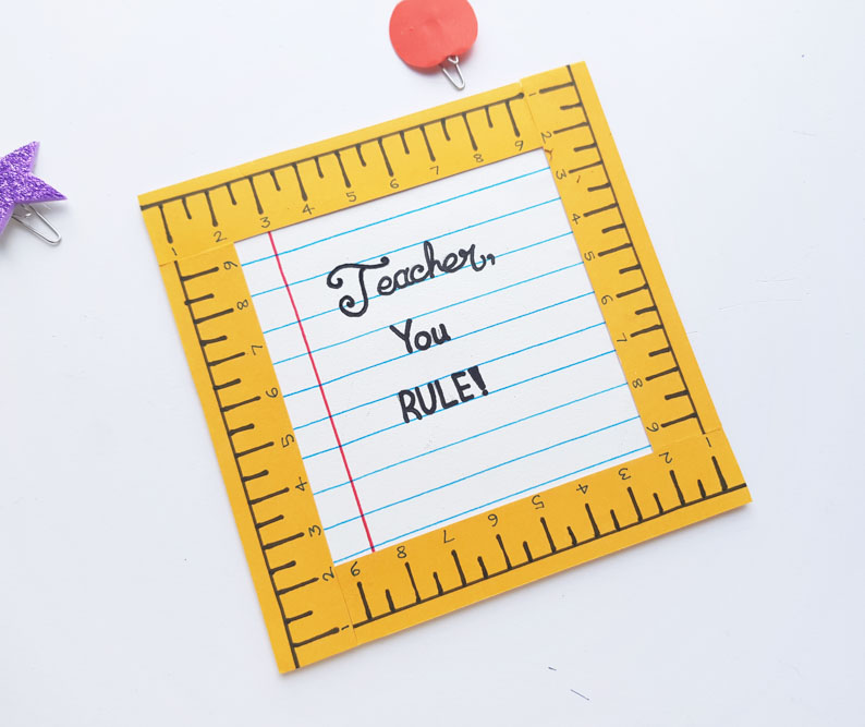 Teacher Appreciation Message Frame