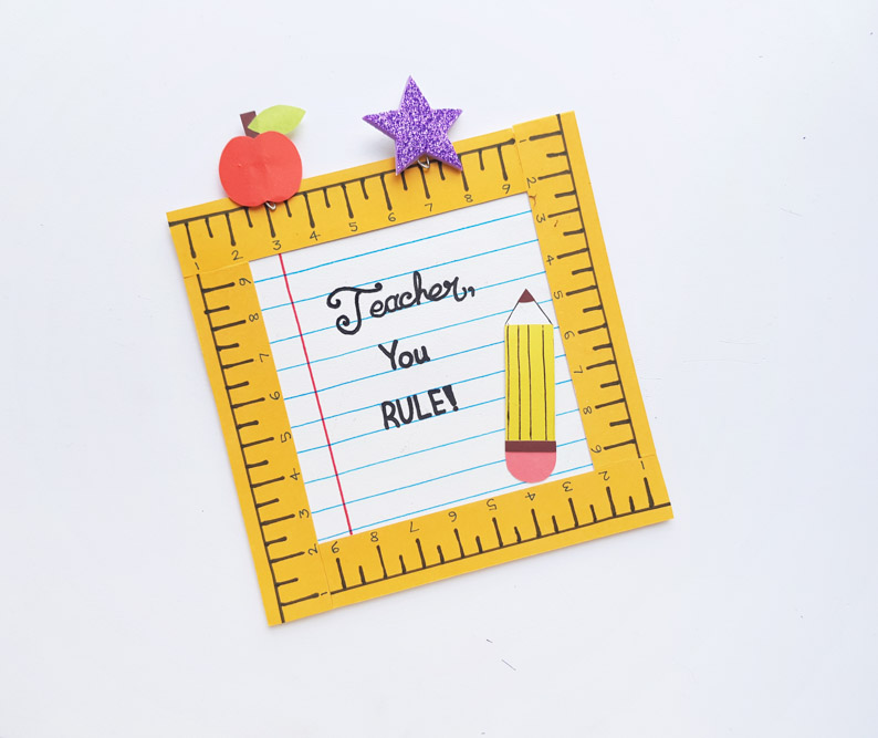 Ruler Frame Gift For Teacher