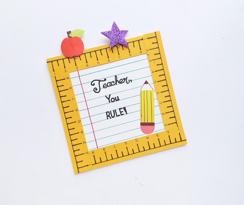 Ruler Frame Gift For Teacher