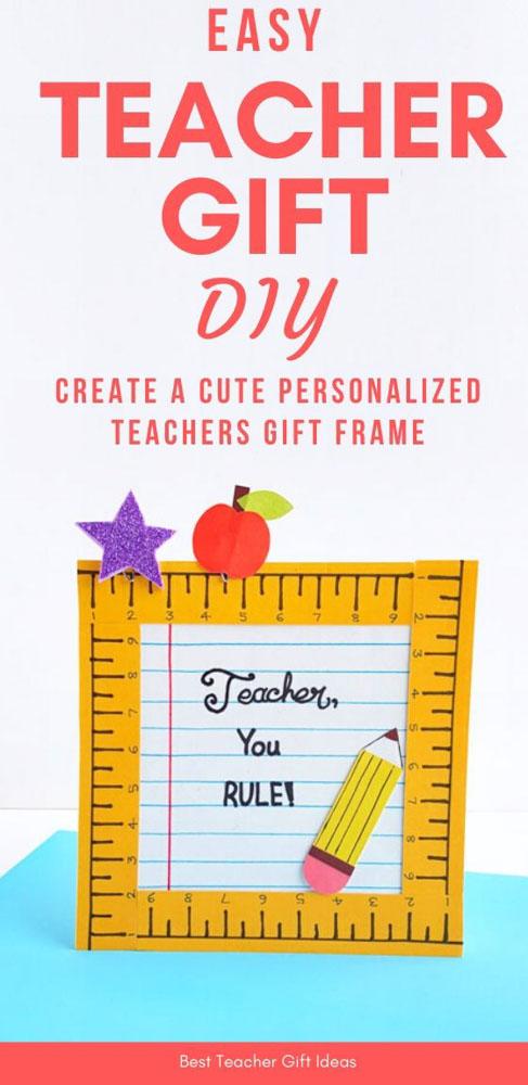 DIY Frame For Teacher Gift