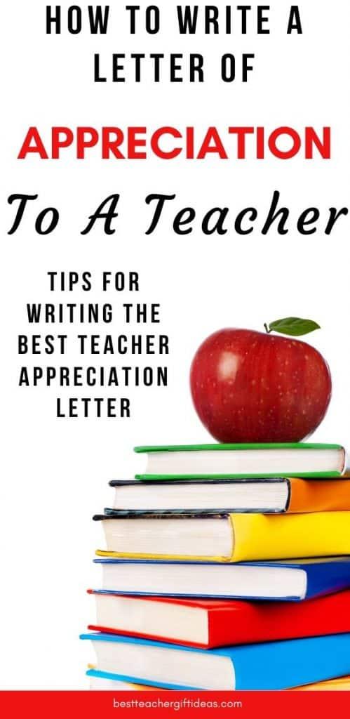 Teacher letter of appreciation