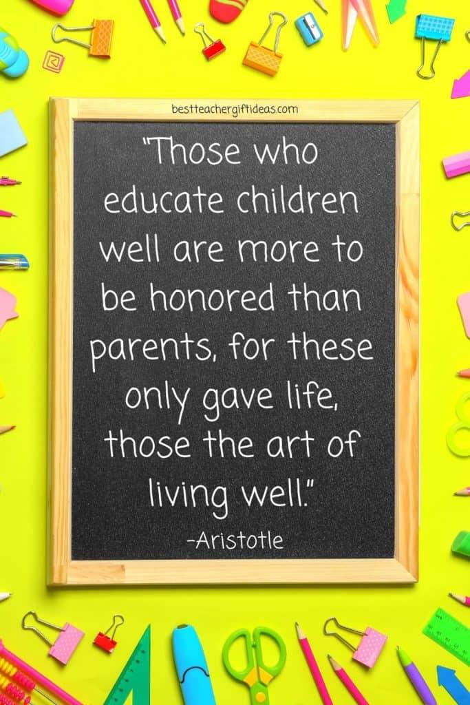 Aristotle teacher quote